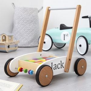 Personalised Wooden Walker And Blocks