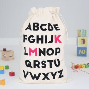 Personalised Toy Sack - ABC