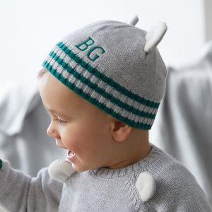 Personalised Grey Bear Hat