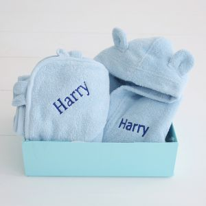 Splash and Snuggles Blue Gift Set