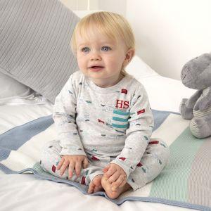 Personalised Baby Dinosaur Pyjamas