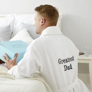 Personalised Greatest Dad/Grandad Waffle Robe