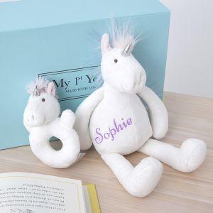 Personalised Plush Unicorn Gift Set
