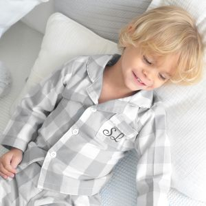 Personalised Checked Pyjamas