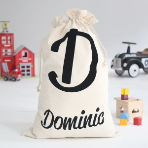 Personalised Name-Initial Toy Sack