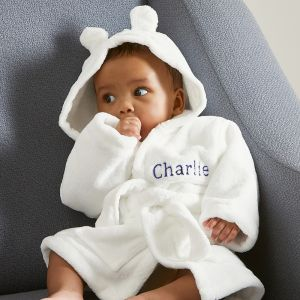 Personalised Hooded Fleece Robe