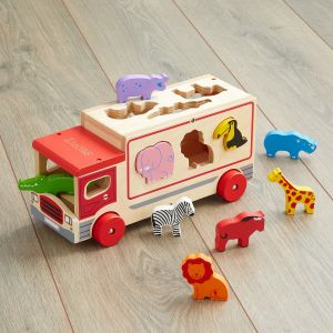 Personalised Jungle Shape Sorter Lorry