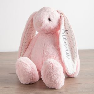 Personalised Large Pink Bunny Soft Toy