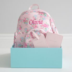 Personalised Pink Travel Set