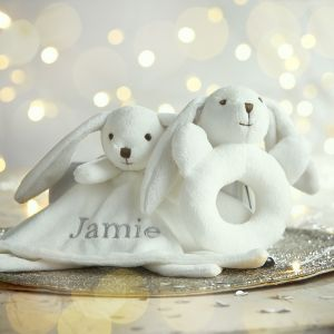 Personalised Bunny Plush Gift Set