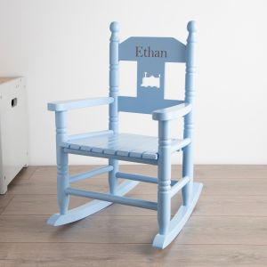 Blue Personalised Rocking Chair