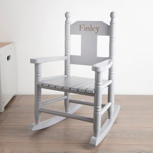 Personalised Grey Rocking Chair