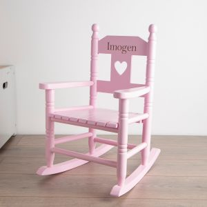 Pink Personalised Rocking Chair