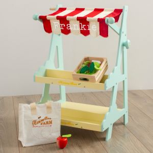Personalised Le Toy Van Market Stall Wooden Toy