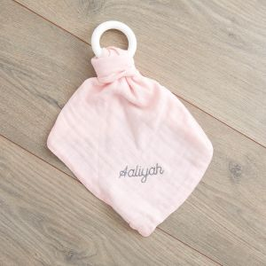 Personalised Pink Bamboo Comforter