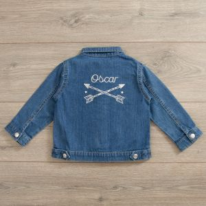 Personalised Tribal Design Denim Jacket