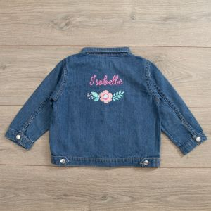 Personalised Floral Design Denim Jacket