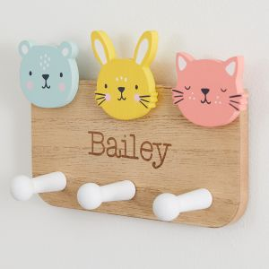 Personalised Furry Friends Coat Hooks