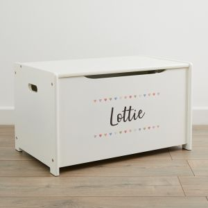 Personalised Heart Design Toy Box