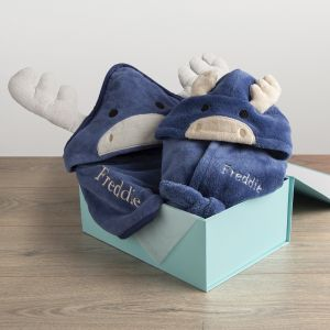 Personalised Moose Splash and Snuggles Gift Set