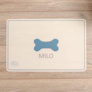 Personalised Dog Bone Print Feeding Mat