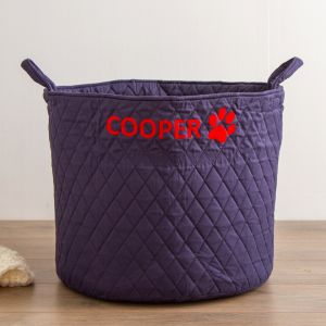 Personalised Large Navy Pets Storage Bag