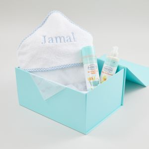 Personalised Blue Relaxing Bath Time Baby Gift Set
