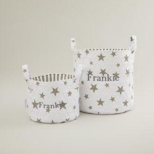 Personalised White Star Storage Bag Gift Set