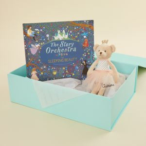 Personalised The Toy Orchestra, The Sleeping Beauty Musical Story Book and Ballerina Bear Gift Set