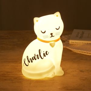 Personalised Cat Night Light