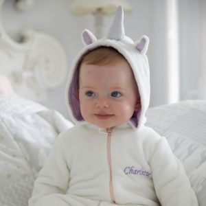 Personalised White Unicorn Onesie