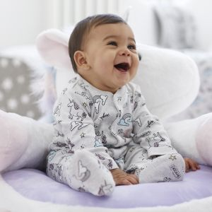 Personalised Unicorn Sleepsuit