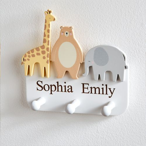 Personalised Animal Friends Clothes Hook