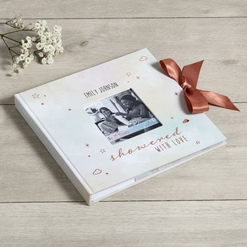 Personalised Multi-Coloured Baby Shower Photo Album