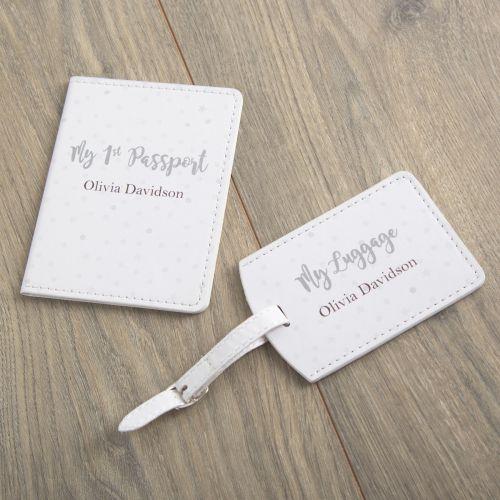 Personalised 1st Passport & Luggage Tag Set