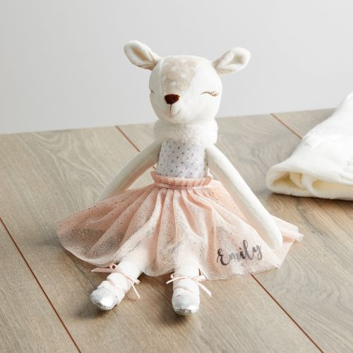 Personalised Ballerina Fawn Doll in Pink Dress