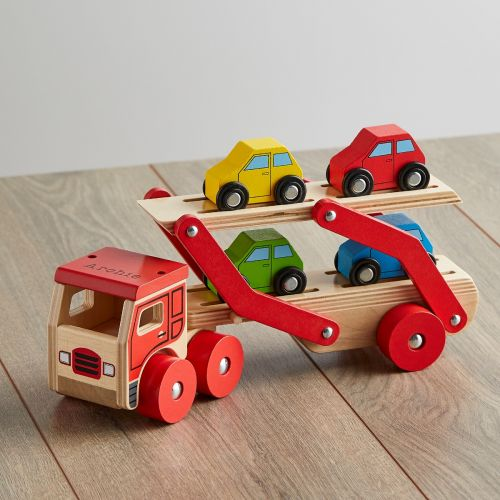 Personalised Wooden Transporter Lorry Toy