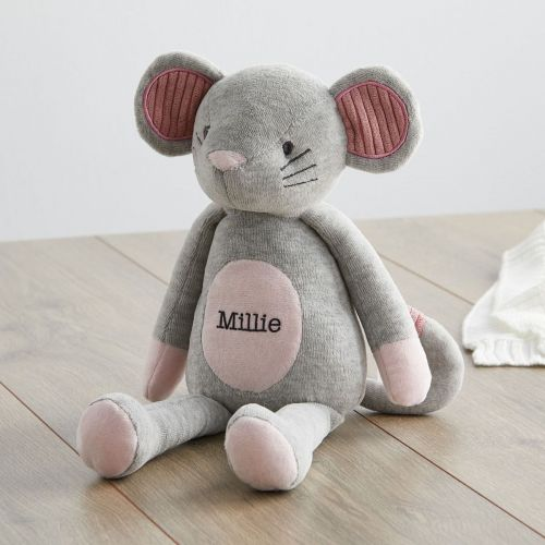 Personalised Textured Mouse Soft Toy