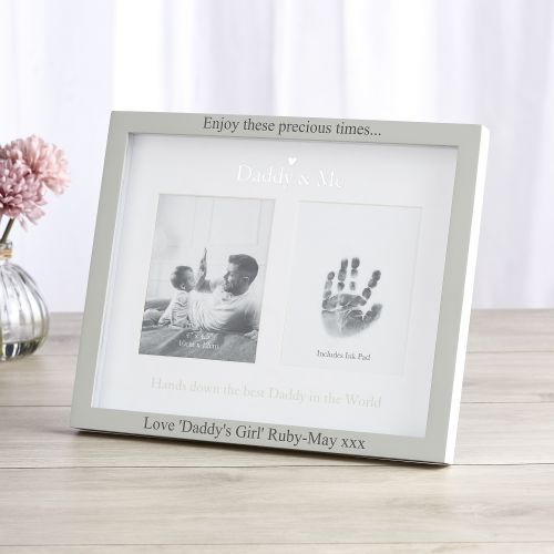Personalised Double Photo 'Daddy & Me' Photo Frame