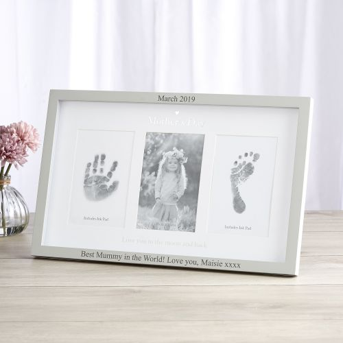 Personalised Mother's Day' Photo & Ink Print Frame
