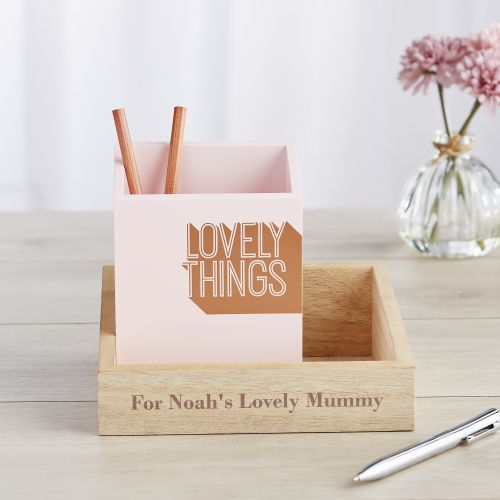 Personalised 'Lovely Things' Desk Organiser