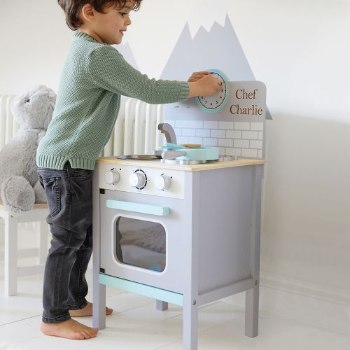 Personalised Grey Play Kitchen