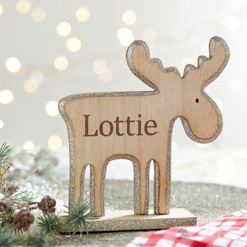 Personalised Reindeer Mantle Decoration