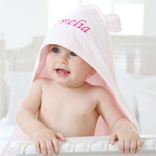 Personalised Pink Hooded Towel