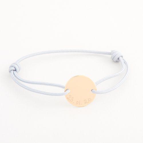 Personalised Merci Maman Children's Gold Pastille Bracelet