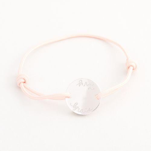 Personalised Merci Maman Children's Silver Pastille Bracelet