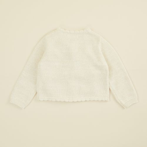 Personalised Oatmeal Knitted Cardigan