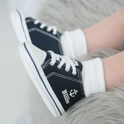 Personalised Anchor High Tops - Navy