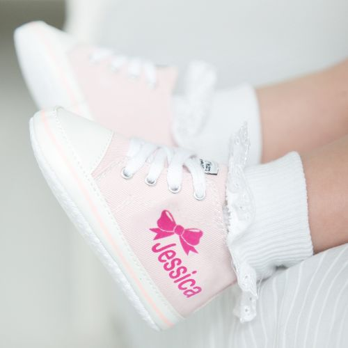 Personalised Bow High Tops