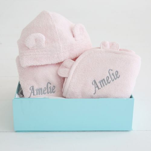Splash and Snuggles Pink Gift Set